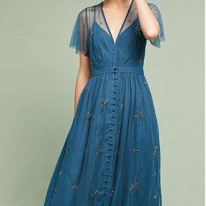 Anthropologie Lille beaded dress